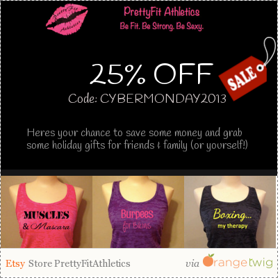 Cyber Monday (all week!) Deal!! 25% off everything in my shop! Check it out!